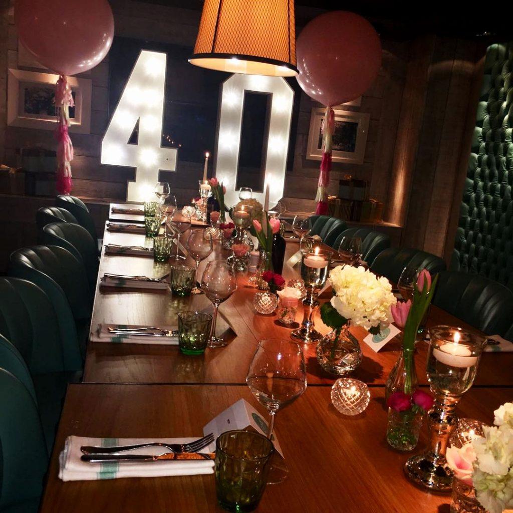 40th Birthday Party Decor